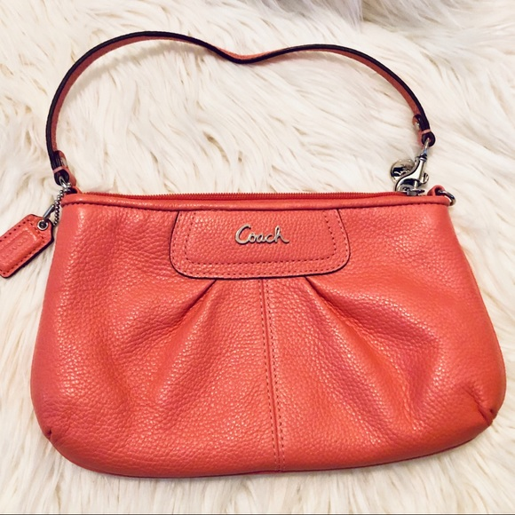 Coach Handbags - Coach Beautiful Larger Peach Clutch